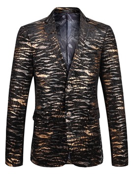 Ericdress Single-Breasted Tiger Stripe Classic Lapel Men's Blazer