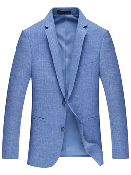 Ericdress Plain Lapel Simple Slim Men's Blazer