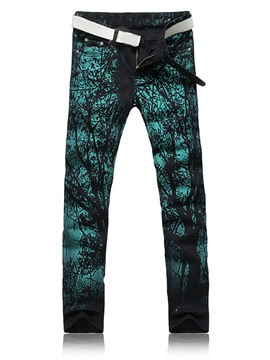 Ericdress Straight Denim Unique Print Men's Jeans