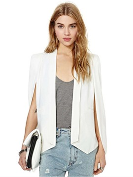 Ericdress Plain Irregular Wrapped Blazer