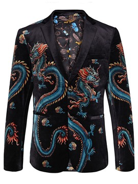 Ericdress Style Dragon Print Vogue Men's Blazer