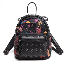 Ericdress Punk Style Rivets Adornment Backpack