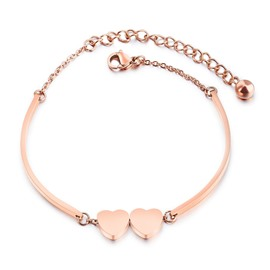 Ericdress Romantic Double Heart Sweet Bracelet