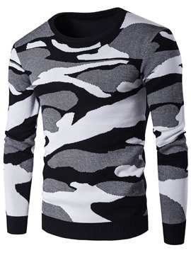 Ericdress Camouflage Pullover Men's Sweater