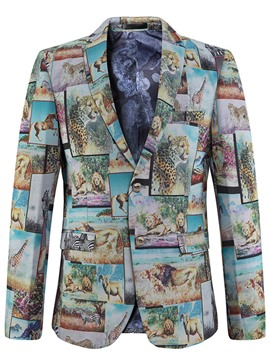 Ericdress 3D Animal Print Vogue Casual Men's Blazer