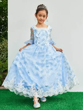 Ericdress Square Half Sleeves Ball Gown Flower Girl Party Dress