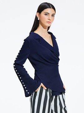ericdress slash mince trompette blouse