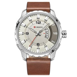 Ericdress JYY Big Dial Leather Strap Men's Watch