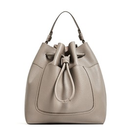 Ericdress Barrel-Shaped Solid Color String Handbag