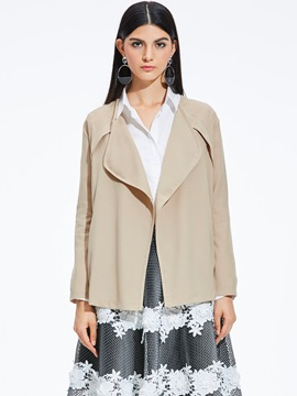 Ericdress Loose Thin Lapel Wrapped Jacket