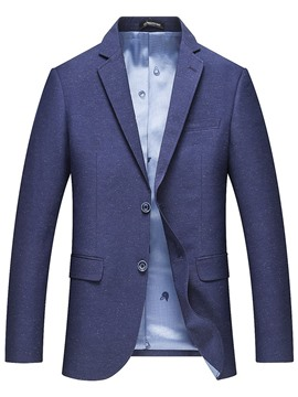 Ericdress Pocket Plain Lapel Slim Men's Blazer