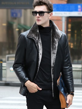 Ericdress Faux Leather Lapel Vogue Warm Men's Winter Coat