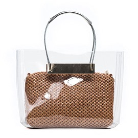 Ericdress Occident Style Transparent Straw Handbag ( 2 Bags)