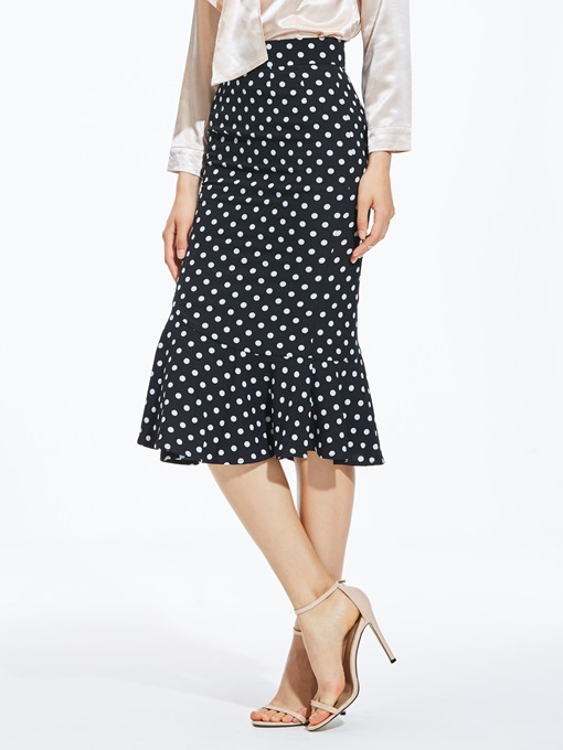 Ericdress Mermaid Polka Dots Women's Skirt
