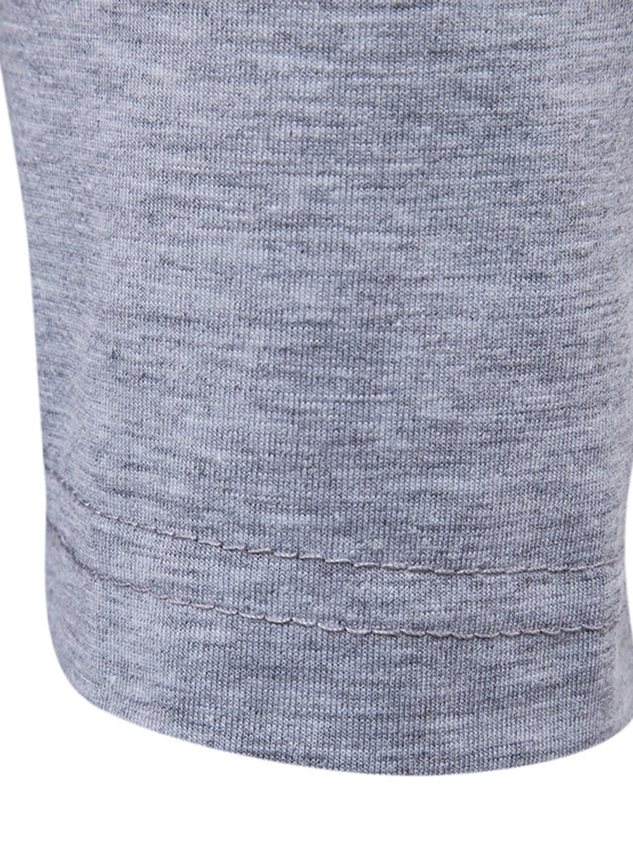 Ericdress Long Sleeve Color Block V Patched Casual Men's T-Shirt