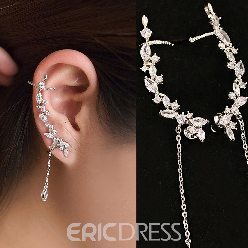 Ericdress Elegant Diamante Long Single Ear Cuff