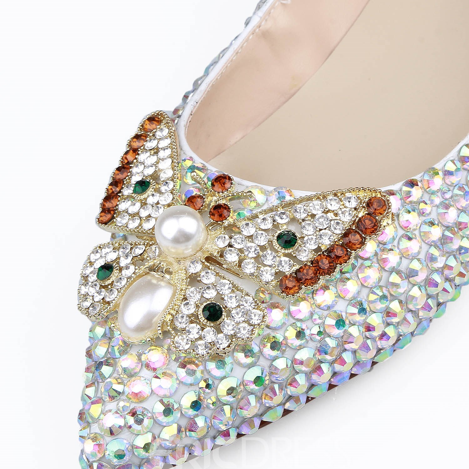 Ericdress Rhinestone Pointed Toe Plain Wedding Shoes with Beads