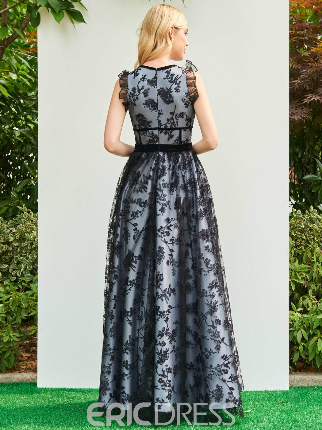 Ericdress A Line Parent-Child Floor Length Long Lace Evening Dress