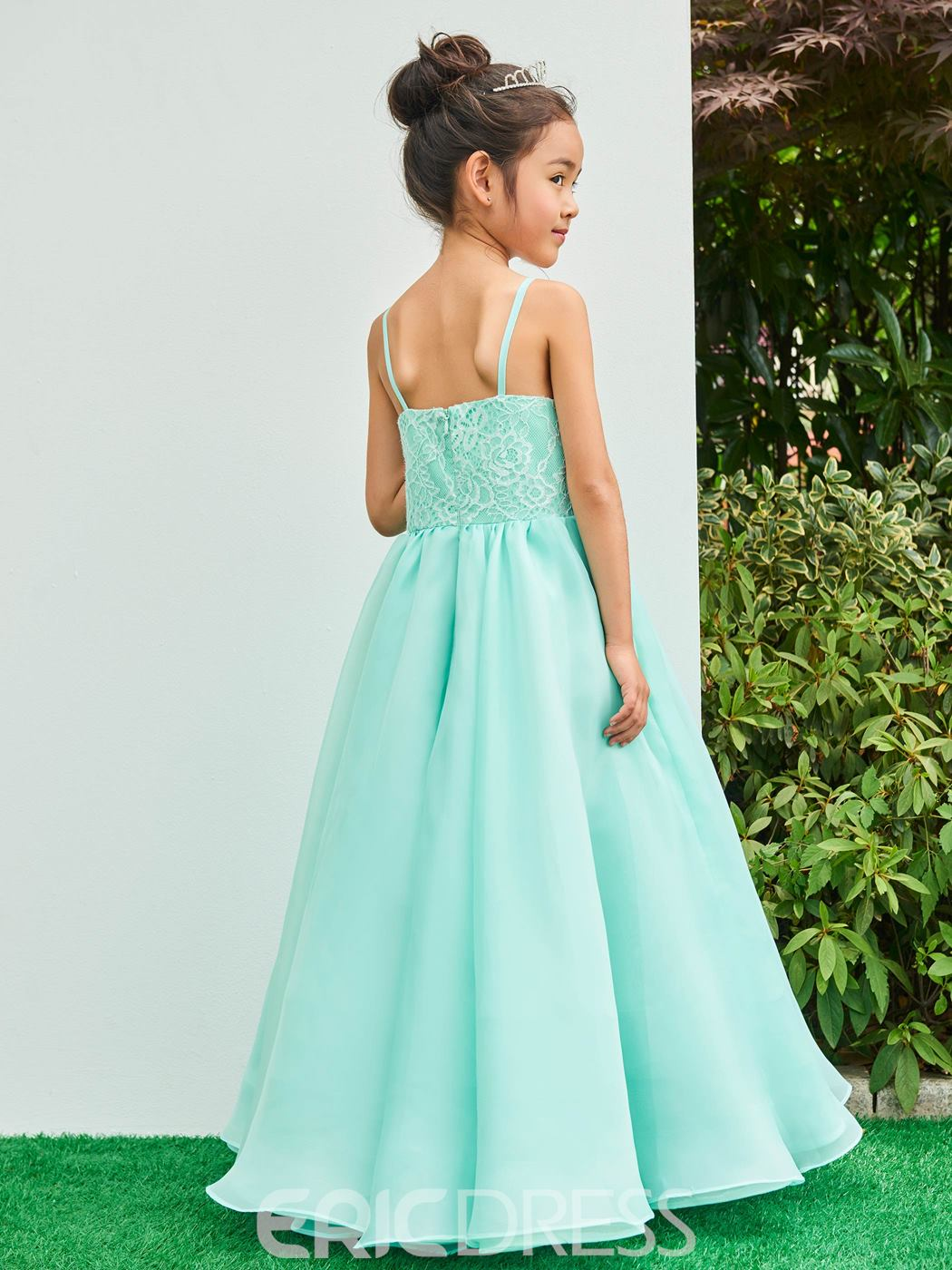 Ericdress Spaghetti Straps Ankle Length Ball Gown Flower Girl Party ...
