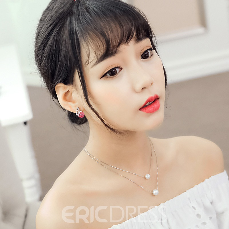 Ericdress Blingling S925 Artificial Rhinestone Earring for Office Lady