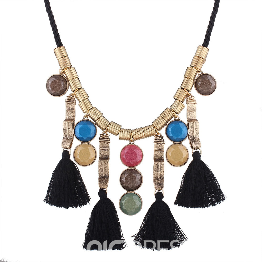 Ericdress Vintage Style Tassel Pendant Women's Necklace