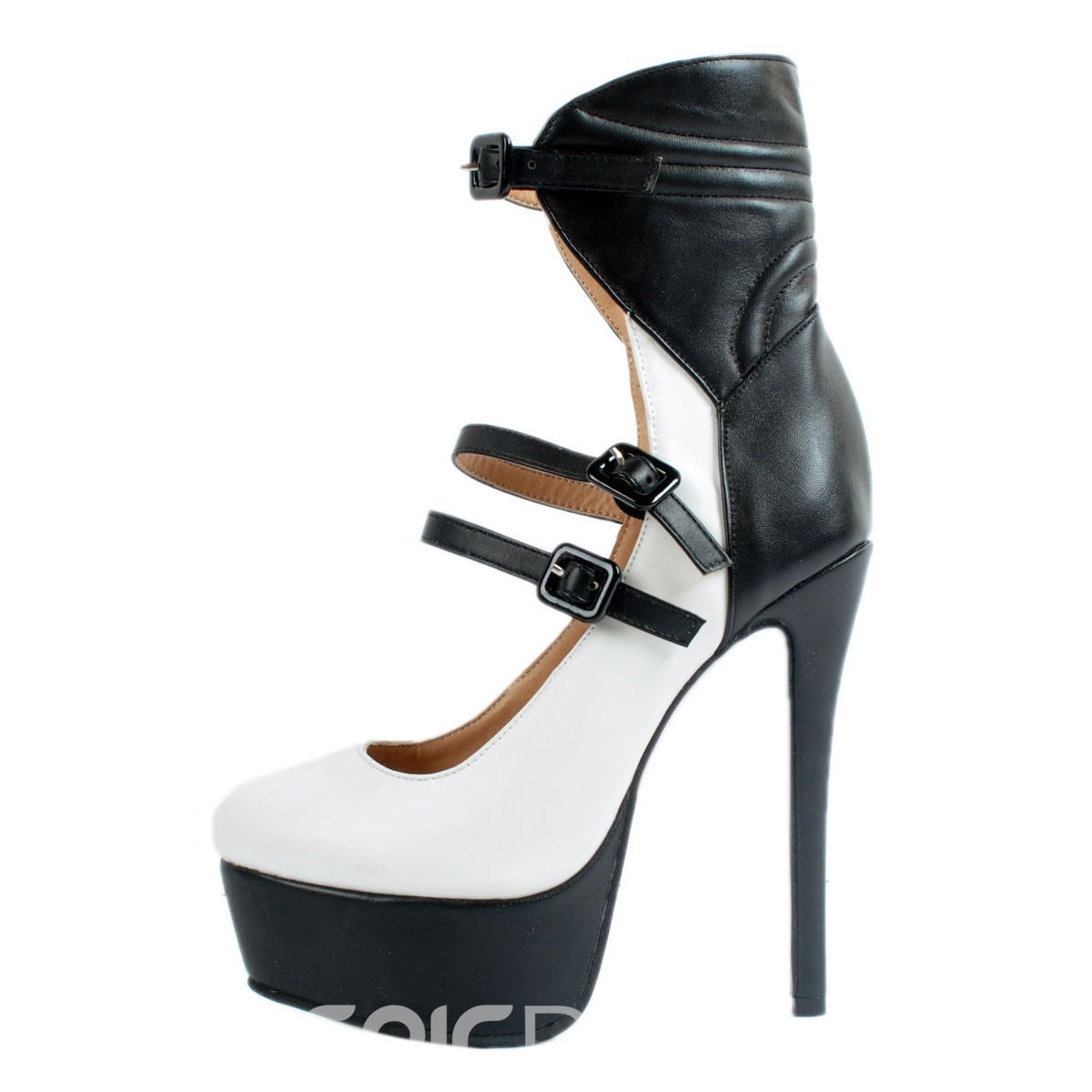 Ericdress Color Block Platform Stiletto Pumps with Buckle