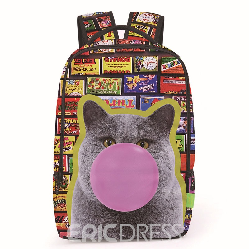 Ericdress Fashion 3D Printing Backpack
