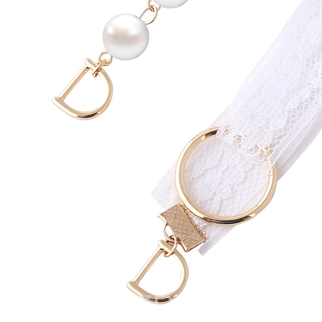 Ericdress Attractive Imitation Pearl Lace Letter Pendant Earring