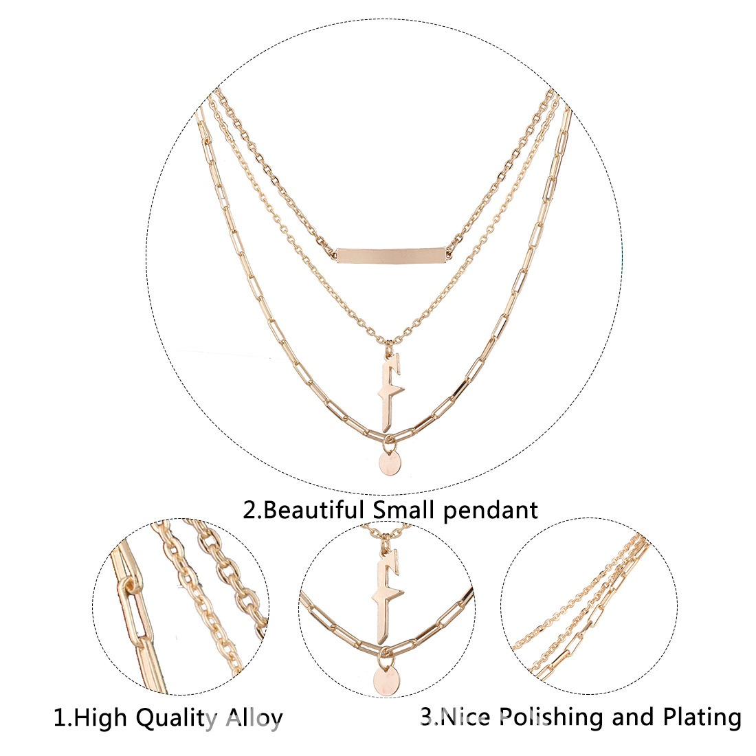 Ericdress Multilayer Alloy Pendant Women's Necklace