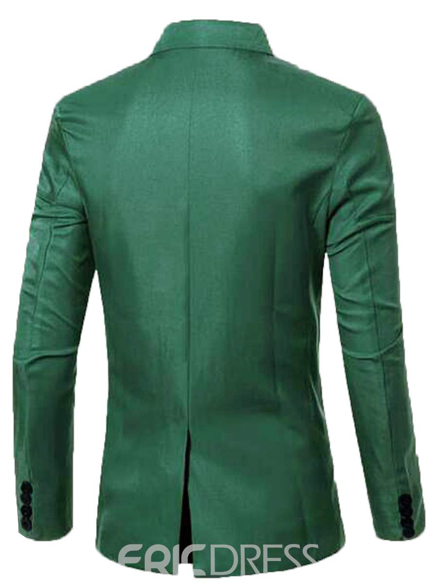 Ericdress Solid Color Double-Breasted Men's Casual Blazer