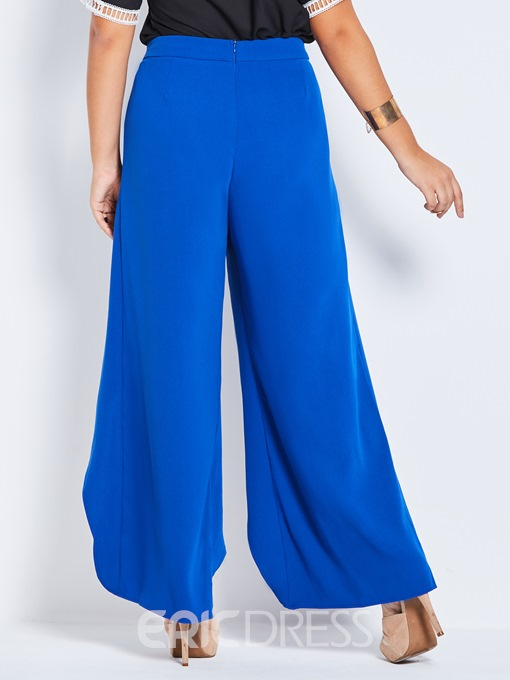 Eeicdress Plus Size Elastics Wide Legs Pants
