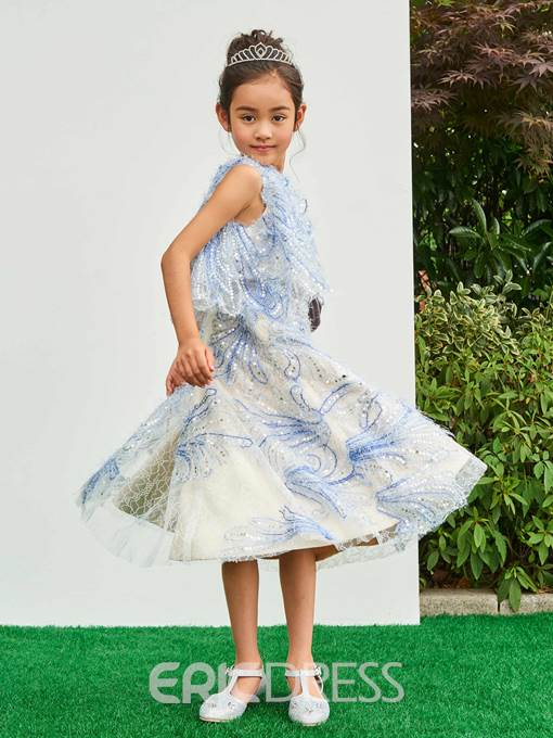 Ericdress Jewel A Line Lace Flower Girl Party Dress