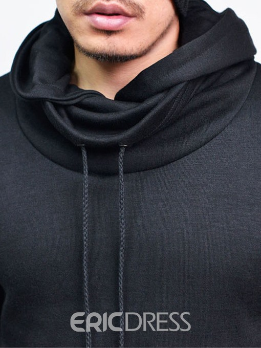 Ericdress Plain Heap Collar Pullover Casual Men's Hoodie