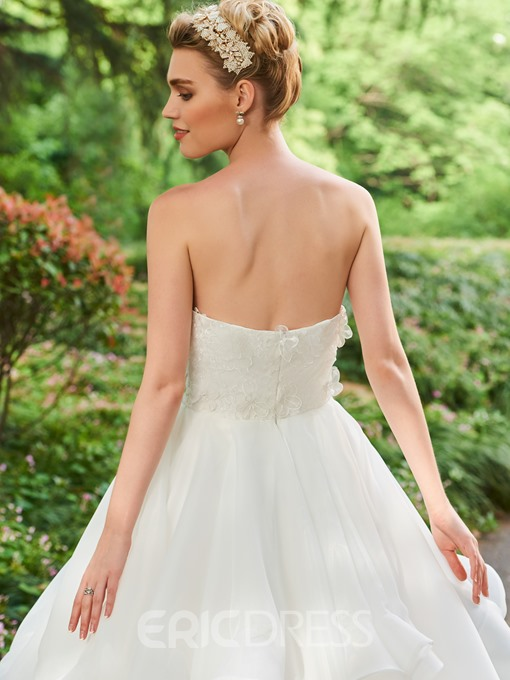 Ericdress Sweetheart Appliques Ball Gown Garden Wedding Dress