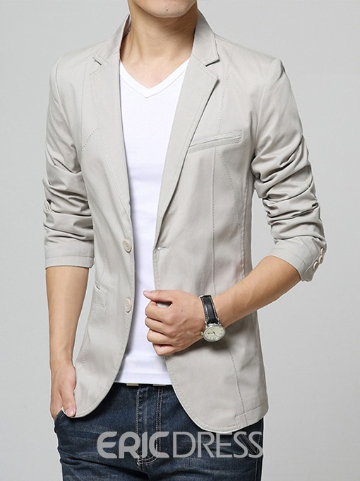 Ericdress Plain Lapel Casual Slim Men's Blazer