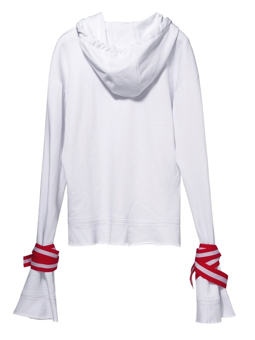 Ericdress Patchwork Flocking Lace-Up Cool Hoodie
