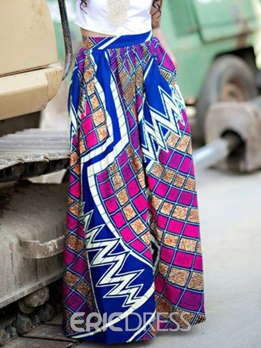 Ericdress Dashiki Floor-Length High-Waist Women's Skirt