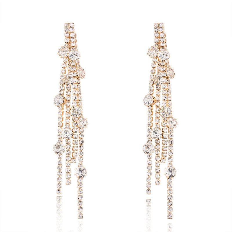 Ericdress All Match Diamante Tassel Elegant Women's Earring