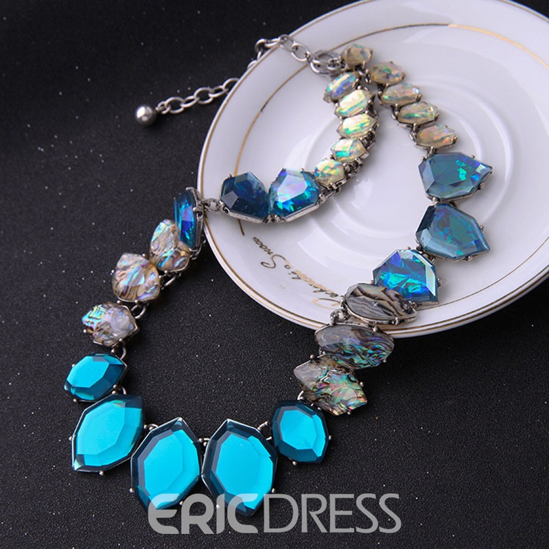 Ericdress All Match Geometric Gems Necklace for Any Occasions
