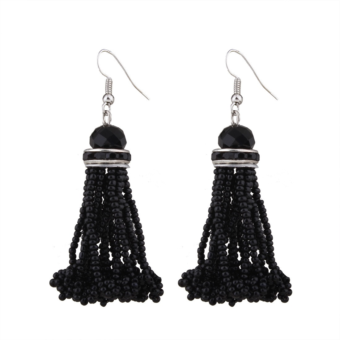 Ericdress Bohemia Bead Tassle Drop Earring for Women
