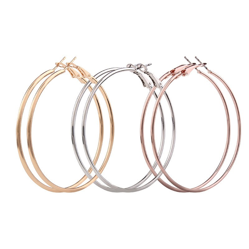 Ericdress Allergy Free Alloy Circle Women's Hoop Earring
