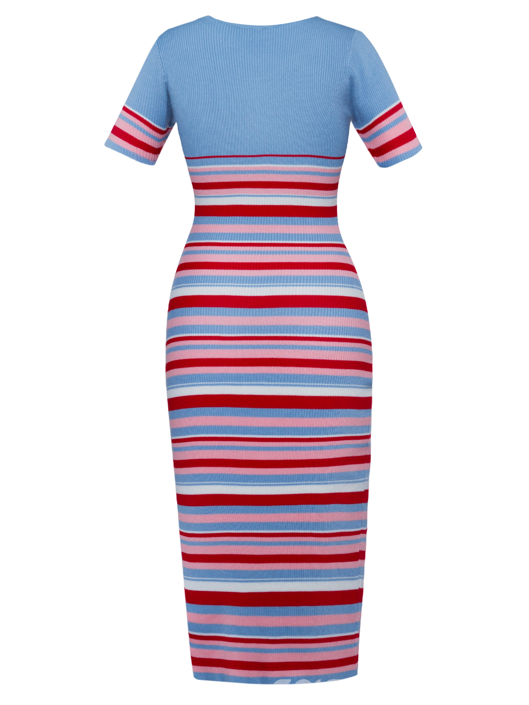 Ericdress Color Block Stripe Sweater Dress