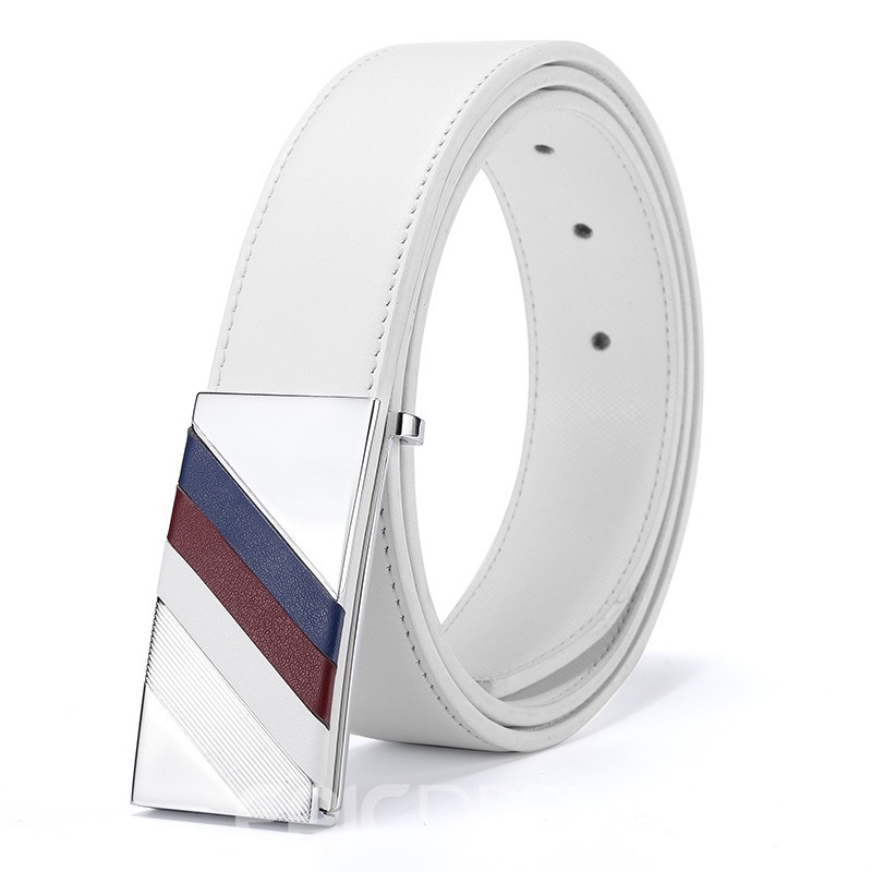 Ericdress New Style Smooth Buckle Leather Men's Belt