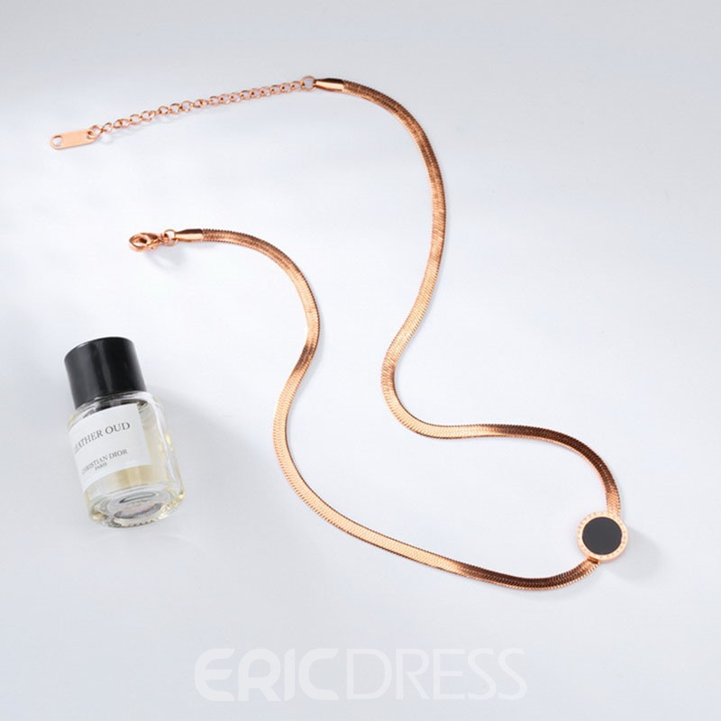 Ericdress 18K Rose Gold Titanium Steel Women's Necklace