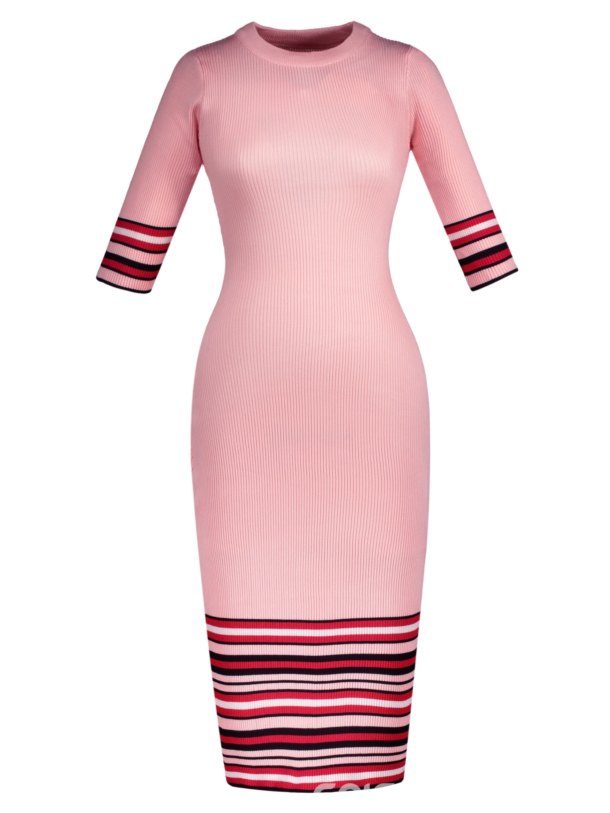 Ericdress Vertical Striped Mid-Waist Stripe Sweater Dress