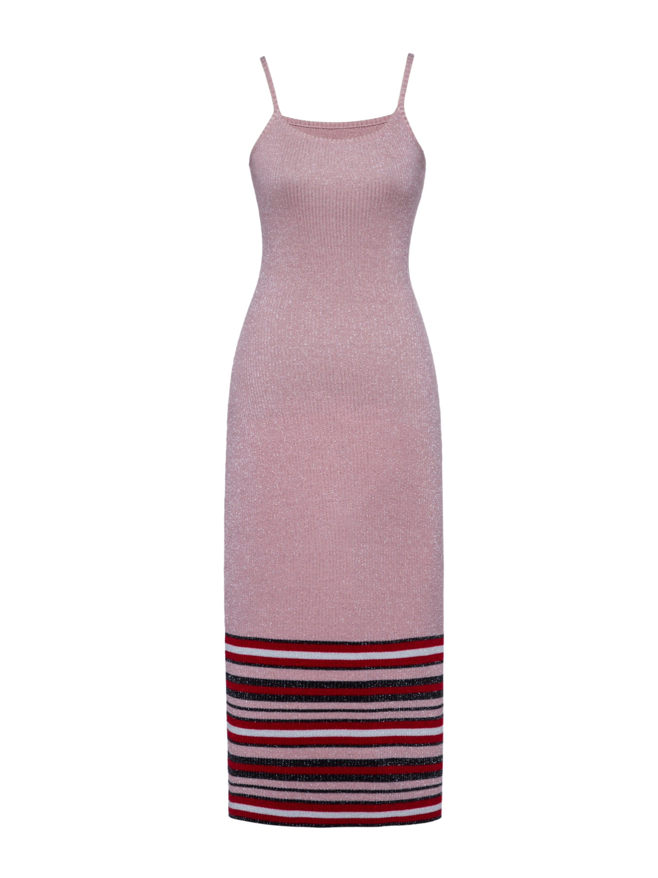 Ericdress Spaghetti Strap Color Block Stripe Sweater Dress