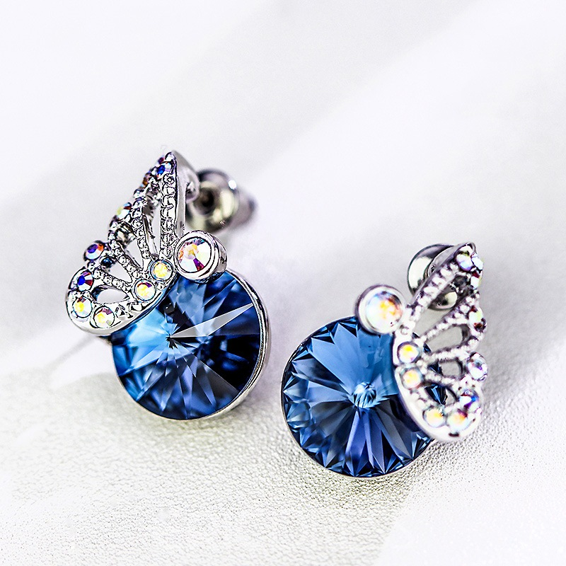 Ericdress Blingling S925 Artificial Crystal Earring for Office Lady
