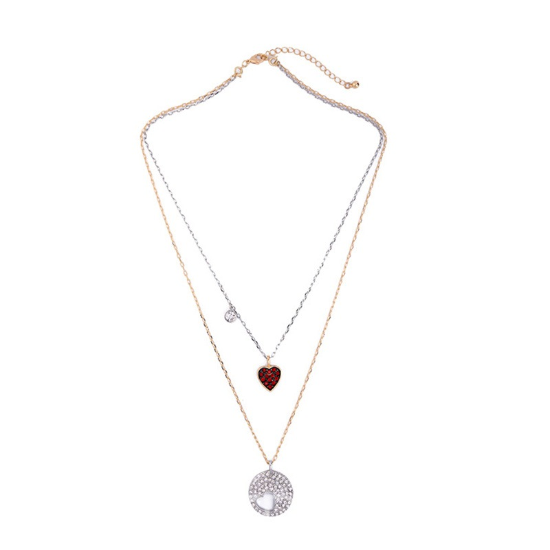 Ericdress Vintage Heart Pendant Double-Layer Necklace