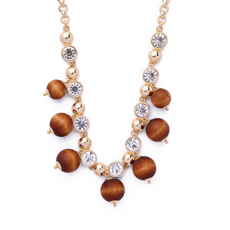 Ericdress Vintage Bead Pendant All Match Necklace for Women
