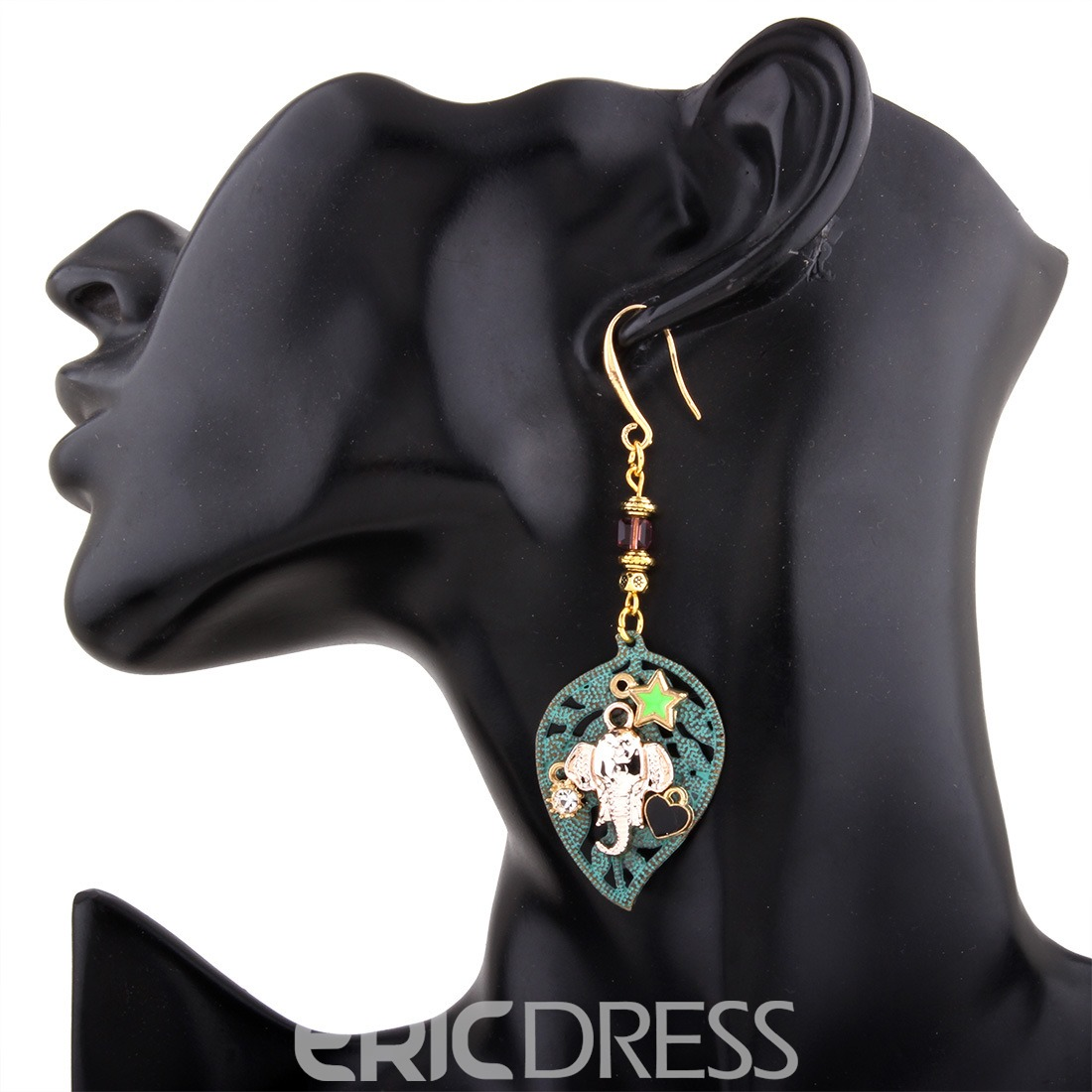 Ericdress Hot Leaf Pendant Drop Earring for Women